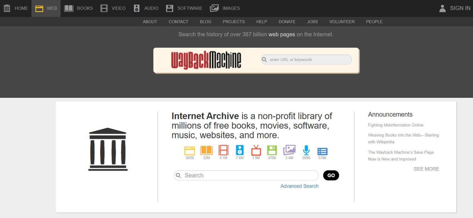 archive.org-herramientas-gratuitas-marketing-online-objetivomarketing