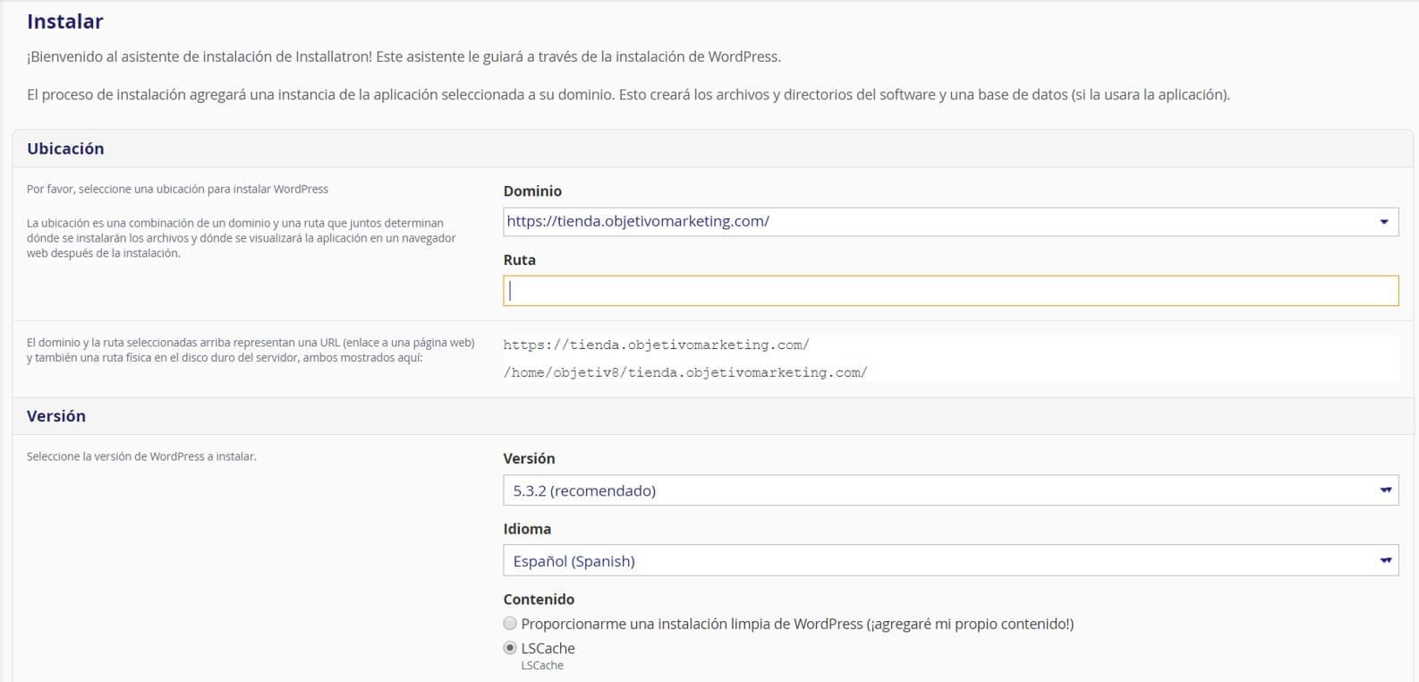configuración-wordpress-para-subdominio